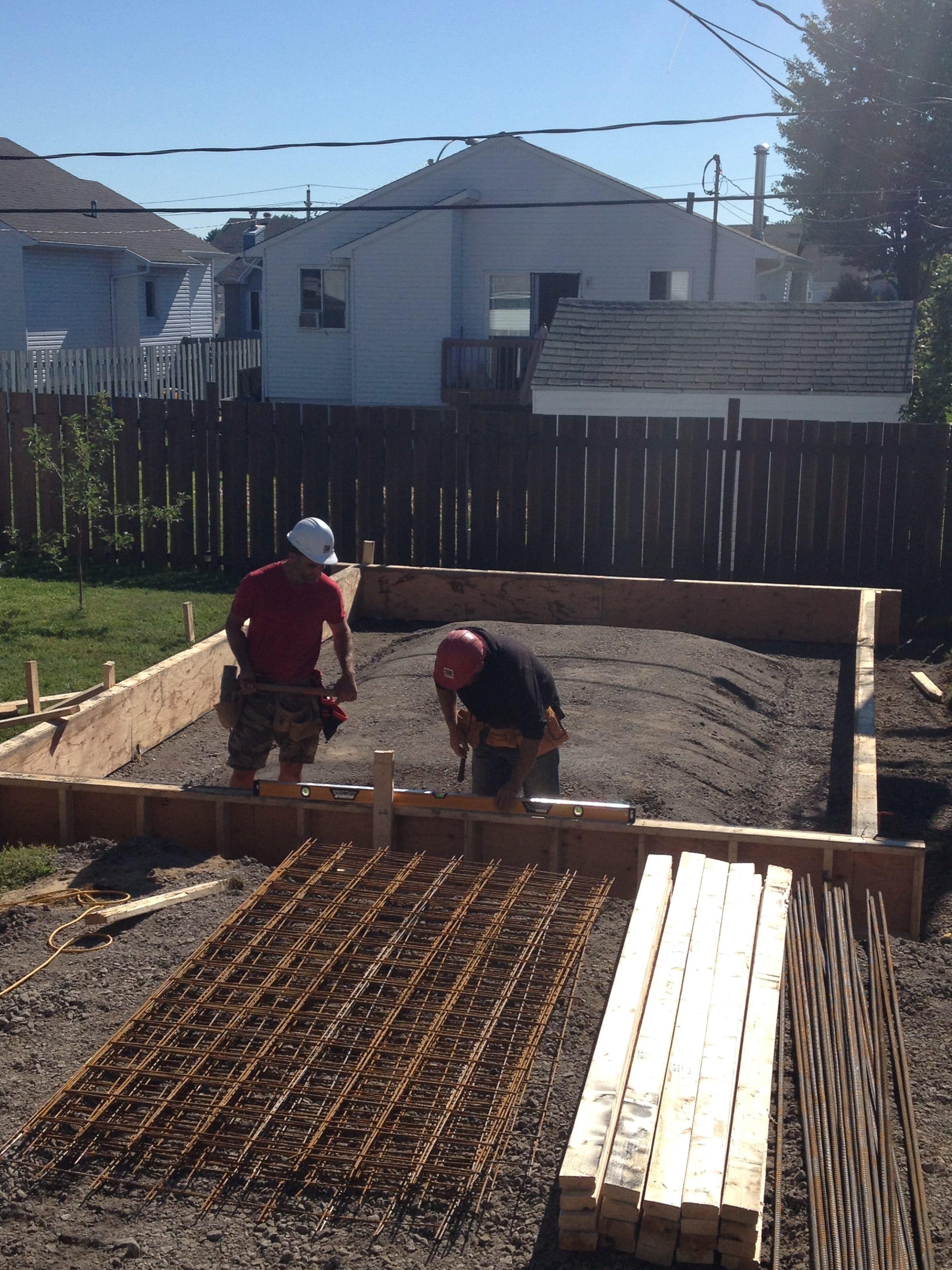 Monolithic Slab For Separate Garage Gesco Construction