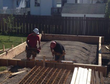 Dalle monolitique pour garage - Plancher et Fondation en béton